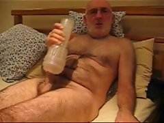 Master Wanker fucking and wanking with a fleshlight