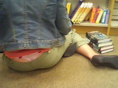 Sexy Matures Pink Thong at bookstore