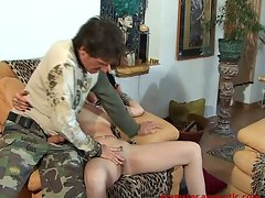 Hardcore Bi Threesome with hot MILF and 2 guys - 1 of 2
