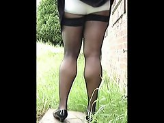 TGirl Lifts Skirt 210