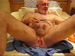 Master Wanker fucking a sex toy