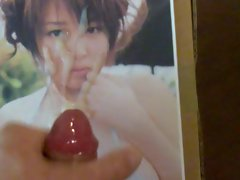 cumming on busty Japanese girl