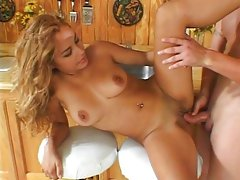 Spicy Latin chick cock rammed eagerly