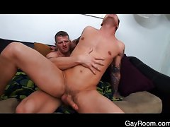 Perverted roommate ass grope