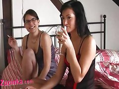 Zuzinka and Tereza - czech lesbians in action