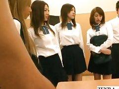 Naked school Japan public group blowjob