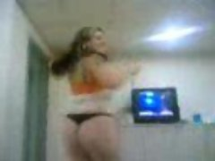 arabic girl dancing and showing ass and tits