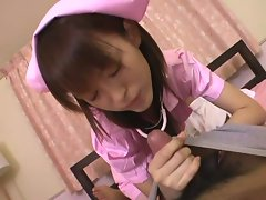 Slutty japanese nurse pampers ailing hard cock