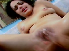 Teen pussy gets pounded by a massive cock