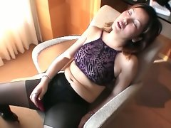 Horny mature japanese woman trying filthy toys and hot cock