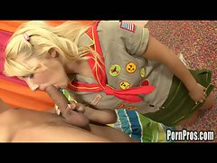 Sweet sex scout jamie pounded by big dick