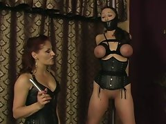 Hot jewell marceau gets bound, whipped, and forced to lesbian fun