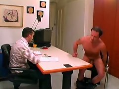 Horny gay hunk fucking his hot boss