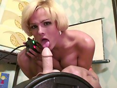 Awesome sibian ride with a hot blonde tranny