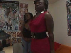 Busty ebony amateurs fuck a white guy