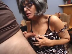 Hey my grandma is a whore and loves hard cocks