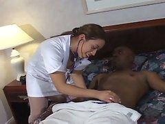 Cut ebony nurse get hearts pumping