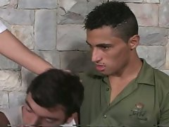 Army men eduardo gives incredible hot thrusting action with twinks