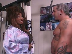 Monster boobies ebony temptress cock riding session
