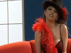 Evie delatosso hot solo in a sexy corset