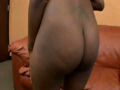 Enchanting huge tits and ass ebony charmer down for white fucker