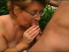 Hot and sexy granny attacks this big dick with her beautiful body