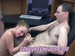 Redhead gets chace to make moves on the boss