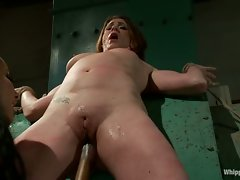 CiCi Rhodes is Isis Love's slave girl with shaved puffy