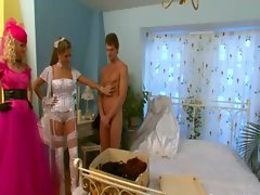 Bridal party sissify loser