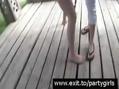 Public Party with horny boozed Teens