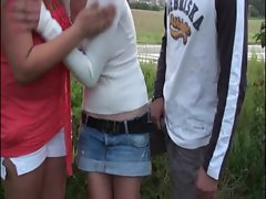 Public orgy with teen girls COOL