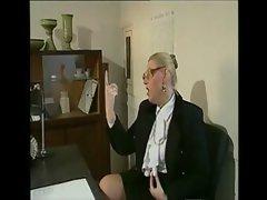 German headmaster enjoys a big young cock