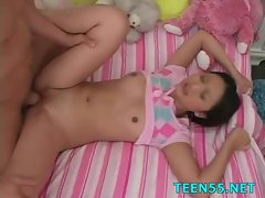 Teen kinkster blows and rides