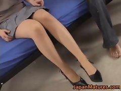 Mature real asian woman enjoys