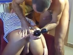 Ass eating amateur daddies enjoying nasty anal encounter