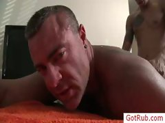 Tatooed hunk getting his poopshute fingered and fucked gay video