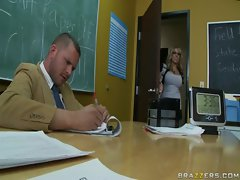 Heather and her teacher, Mr. Nails, have