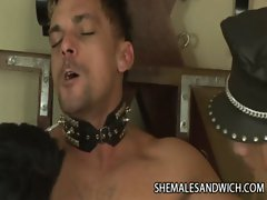 Shemales Isadora Venturini and Rayna Leah Throating Their Slave