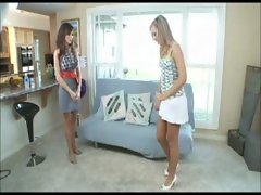 Horny Housewife Ariella Ferrera has threesome with babysitter