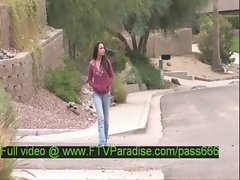 Jessy tender amateur redhead babe walking down the street