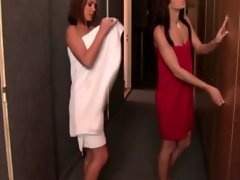 Teens undress to have their showers as they are watched