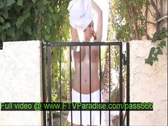 Candace tender teen blonde slut in the backyard