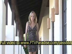 Morgan tender amazing blonde babe walking on the terrace