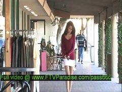 Ileana amazing brunette babe walks into a terace
