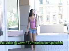 Ileana amazing brunette babe walkin in a shopping mall