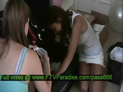 Miyu tender brunette babe talking with her babefriend in a car