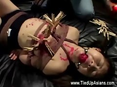 Asian victim gets hot wax punishment