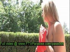 Liz amazing naked blonde babe in a garden