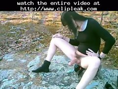 Hot Slutty Tranny In The Woods