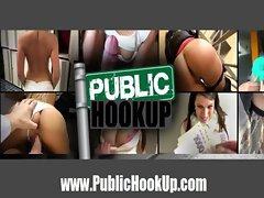 Amateur Euro Brunette Rides this Dick - PublicHookup.com
